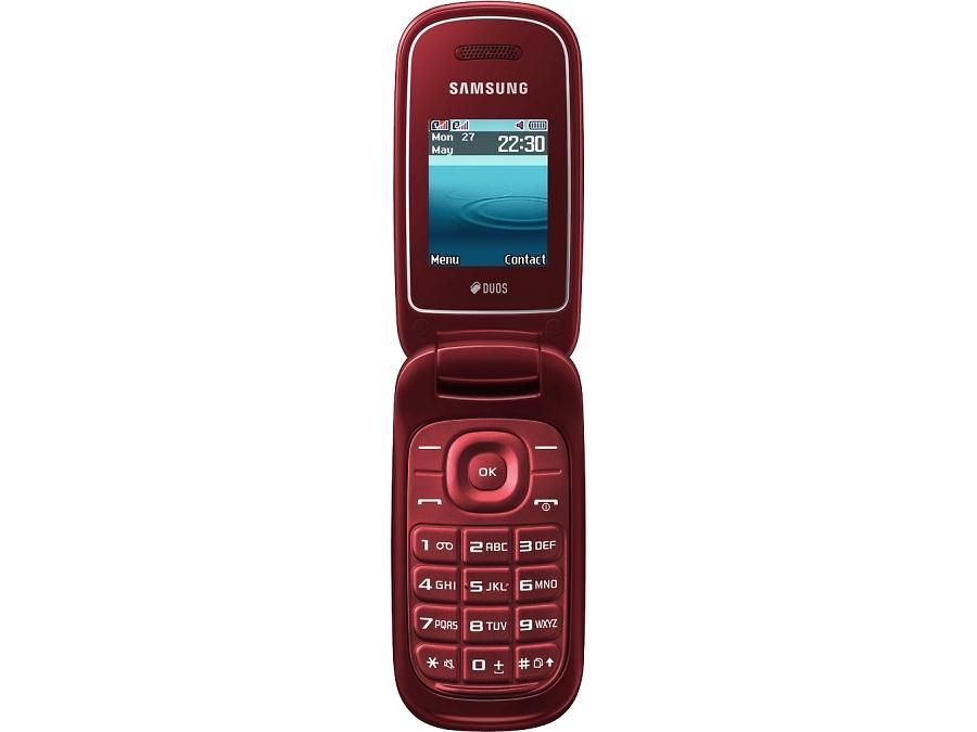 Телефон Samsung E1272 Garnet Red