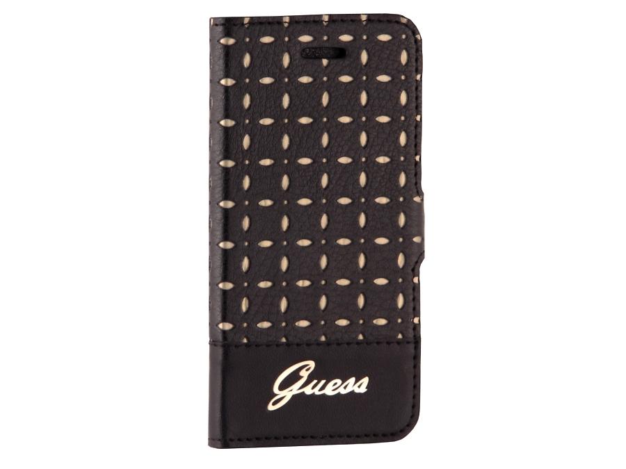 Чехол-книжка Guess Gianina для Apple iPhone5, кожа / пластик, черный