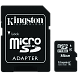 Карта памяти Kingston Technology MicroSD HC 16 ГБ class 4 (с адаптером)
